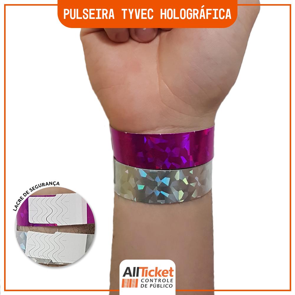 Pulseira Tyvec Holográfica